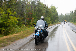 Marty Patterson riding his 1946 UL Harley-Davidson Knucklehead in the
