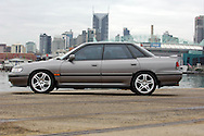 1991 Subaru RS Liberty Turbo - Charcoal.Shot on location at Docklands area, Melbourne, Victoria.3rd July 2005.(C) Joel Strickland Photographics.Use information: This image is intended for Editorial use only (e.g. news or commentary, print or electronic). Any commercial or promotional use requires additional clearance.
