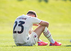 LIVERPOOL, ENGLAND - Wednesday, September 15, 2021: AC Milan's Luca Stanga looks dejected after the UEFA Youth League Group B Matchday 1 game between Liverpool FC Under19's and AC Milan Under 19's at the Liverpool Academy. Liverpool won 1-0. (Pic by David Rawcliffe/Propaganda)