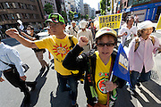 Anti nuclear protest march Tokyo, Japan Sunday June 2nd 2013