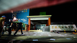 June 16, 2017 - Fengxian, Jiangsu, China - Forensic experts work at the site of the explosion near a kindergarten in Fengxian County. At least eight people have died and 66 people were injured. (Credit Image: © Li Xiang/Xinhua via ZUMA Wire)