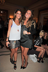 Left to right, sisters VIOLET VON WESTENHOLZ and VICTORIA VON WESTENHOLZ at a party hosted by Mulberry during London fashion Week 2009 at Claridge's Hotel, Brook Street, London on 20th September 2009.