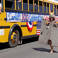 Cardiff by the Sea 100th Birthday Parade Costume Contest Winner: Sandcastle