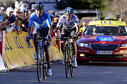 March 16, 2019 - Col De Turini, France - QUINTANA Nairo (COL) of MOVISTAR TEAM and BERNAL GOMEZ Egan Arley (COL) of TEAM SKY pictured during stage 7 of the 2019 Paris - Nice cycling race with start in Nice and finish in Col de Turini  on March 16, 2019 in Col De Turini, France, (Credit Image: © Panoramic via ZUMA Press)