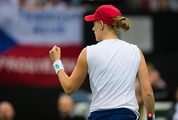 November 10, 2018 - Prague, Czech Republic - Alison Riske of the United States in action at the 2018 Fed Cup Final between the Czech Republic and the United States of America (Credit Image: © AFP7 via ZUMA Wire)