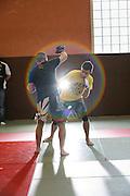 Entrainement au combat libre, Soane et Loire, France. Free fight training, Soane and Loire, France.