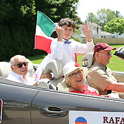 CANASTOTA, NY - JUNE 14: Boxing manager and inductee Rafael Mendoza (L) is seen in his parade car during the International Boxing Hall of Fame induction Weekend of Champions events on June 14, 2015 in Canastota, New York. (Photo by Alex Menendez/Getty Images) *** Local Caption *** Rafael Mendoza