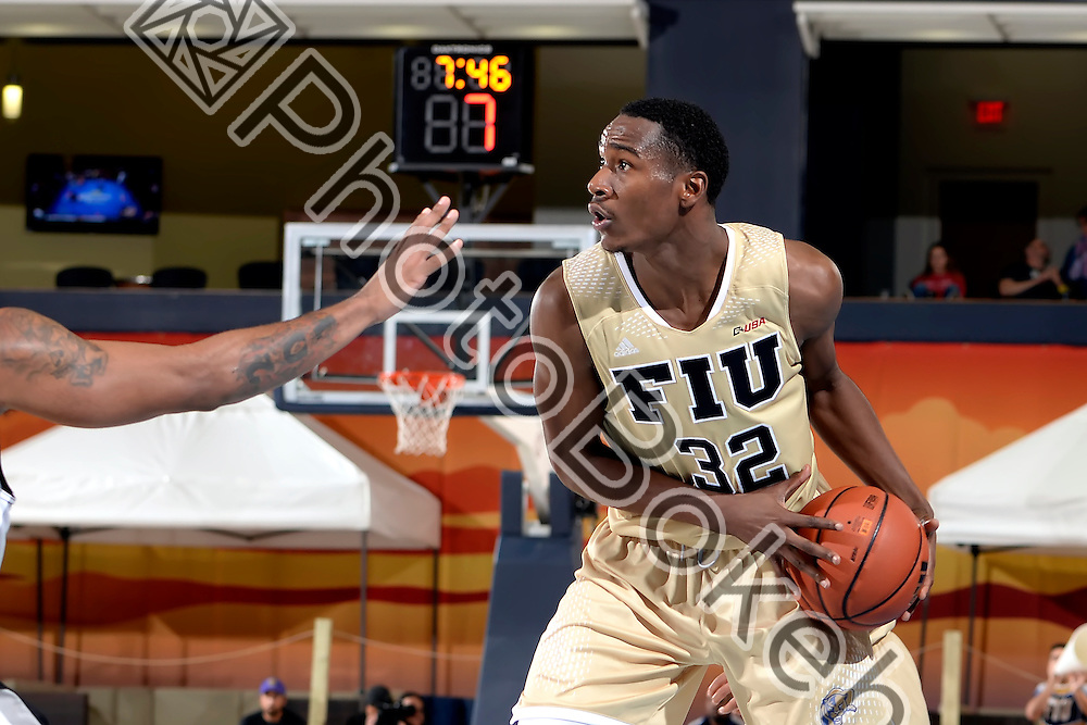 2015 November 25 - FIU's Daviyon Draper (32). <br /> Florida International University defeated Long Island University, 80-72, at US Century Bank Arena, Miami, Florida. (Photo by: Alex J. Hernandez / photobokeh.com) This image is copyright by PhotoBokeh.com and may not be reproduced or retransmitted without express written consent of PhotoBokeh.com. ©2015 PhotoBokeh.com - All Rights Reserved