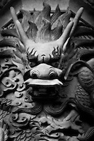 An acient dragon watches over Po Lin Monastery in Hong Kong