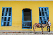 Peasant with his donkey. Trinidad, Cuba. March/2013.