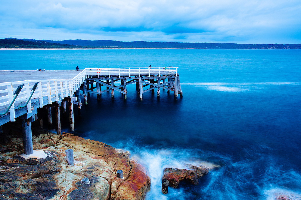 Tathra's historic timber jetty on the south coast of NSW.