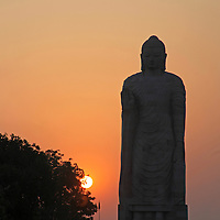 Asia, India, Sarnath. India's tallest Buddha statue erected in Sarnath.