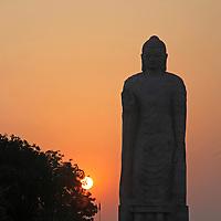 Asia, India, Sarnath. India's tallest Buddha statue erected in Sarnath.
