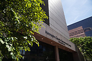 Views outside the Hennepin County Government Center in advance of the sentencing of former Minneapolis Police officer Derek Chauvin in Minneapolis, Minnesota, on Friday, June 25, 2021.