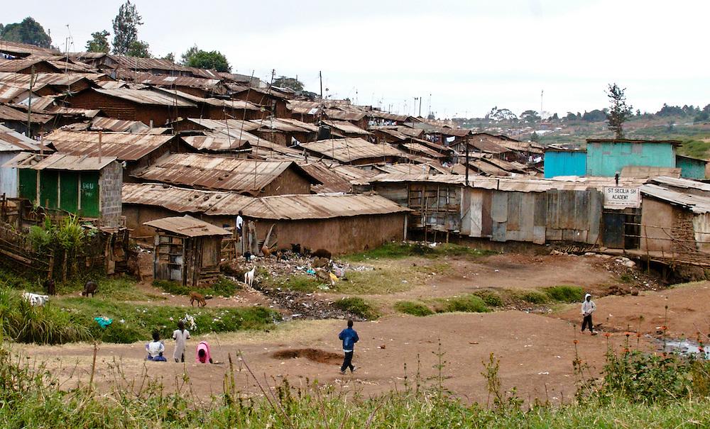 Children in Kibera slum, Nairobi, Kenya
