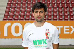 08.07.2015, WWK Arena, Augsburg, GER, 1. FBL, FC Augsburg, Fototermin, im Bild Jan Moravek #14 (FC Augsburg) // during the official Team and Portrait Photoshoot of German Bundesliga Club FC Augsburg at the WWK Arena in Augsburg, Germany on 2015/07/08. EXPA Pictures © 2015, PhotoCredit: EXPA/ Eibner-Pressefoto/ Kolbert<br /> <br /> *****ATTENTION - OUT of GER*****