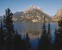 Early Morning Jenny Lake Reflections. Image taken with a Nikon D200 camera and 18-75 mm kit lens (ISO 100, 18 mm, f/5.6, 1/250 sec).