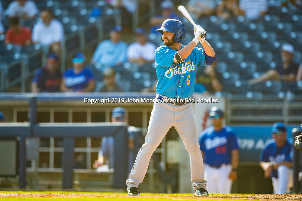 Amarillo Sod Poodles infielder Peter Van Gansen (5) against the Tulsa Drillers during the Texas League Championship on Sunday, Sept. 15, 2019, at OneOK Field in Tulsa, Oklahoma. [Photo by John Moore/Amarillo Sod Poodles]