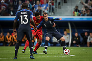 Mousa Dembele of Belgium vies with Antoine Griezmann of France during the 2018 FIFA World Cup Russia, Semi Final football match between France and Belgium on July 10, 2018 at Saint Petersburg Stadium in Saint Petersburg, Russia - Photo Thiago Bernardes / FramePhoto / ProSportsImages / DPPI