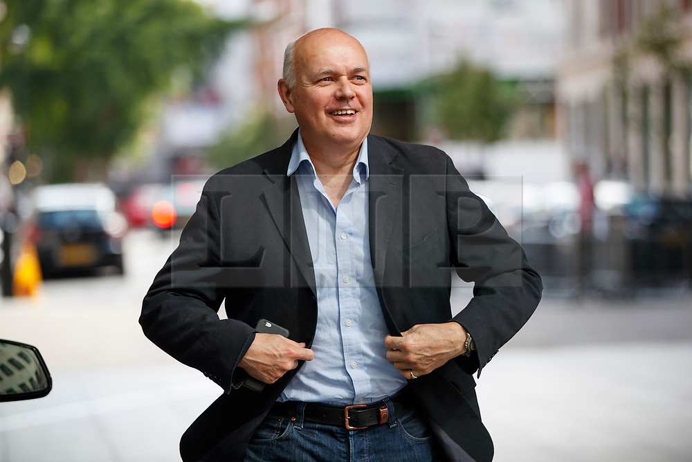© Licensed to London News Pictures. 11/06/2017. London, UK. Former Work and Pensions Secretary IAIN DUNCAN SMITH arrives at BBC Broadcasting House in London on Sunday 11 June 2017. Photo credit: Tolga Akmen/LNP