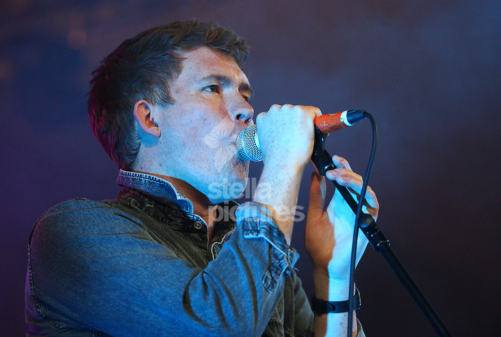 Picture by Rob Fisher/Stella Pictures. .14/07/12.Los Campesinos performing at Latitude, a music and arts festival in Suffolk.