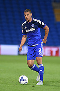 Lee Peltier of Cardiff city in action. Skybet football league championship match, Cardiff city v Middlesbrough at the Cardiff city Stadium in Cardiff, South Wales  on Tuesday 20th October 2015.<br /> pic by  Andrew Orchard, Andrew Orchard sports photography.