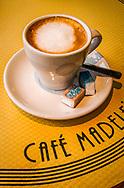 Café Au Lait, Café Madeline, Paris, France