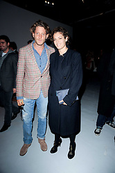 Lapo Elkann and his sister Ginevra Elkann at a private view of Nicolas Pol's paintings entitled 'Mother of Pouacrus' held at The Dairy, Wakefield Street, London WC1 on 14th October 2010.