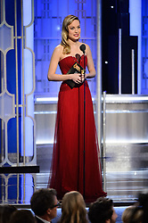 Jan 8, 2017 - Beverly Hills, California, U.S - Presenter BRIE LARSON on stage at the 74th Annual Golden Globe Awards at the Beverly Hilton in Beverly Hills, CA on Sunday, January 8, 2017. (Credit Image: ? HFPA/ZUMAPRESS.com)