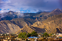 Mountains surrounding Lhasa, Tibet (Xizang), China.