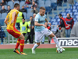 March 31, 2018 - Rome, Lazio, Italy - Ciro Immobile during the Italian Serie A football match between S.S. Lazio and Benevento at the Olympic Stadium in Rome, on march 31, 2018. (Credit Image: © Silvia Lore/NurPhoto via ZUMA Press)