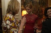 Louisa Buck and Britt Lintner. Dinner at the Italian Embassy in which the winner of the MaxMara Art Prize for Women is announced. Grosvenor Sq. London . 2 February  2006. © Copyright Photograph by Dafydd Jones 66 Stockwell Park Rd. London SW9 0DA Tel 020 7733 0108 www.dafjones.com