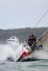 Aleph beats Team New Zealand. Race day 6, Round Robin 1. Auckland, New Zealand, March 15th 2010. Louis Vuitton Trophy  Auckland (8-21 March 2010) © Sander van der Borch / Artemis