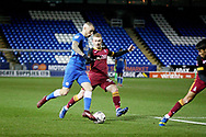 Peterborough United midfielder Marcus Maddison (21) charges into the box during  the The FA Cup 2nd round match between Peterborough United and Bradford City at London Road, Peterborough, England on 1 December 2018.