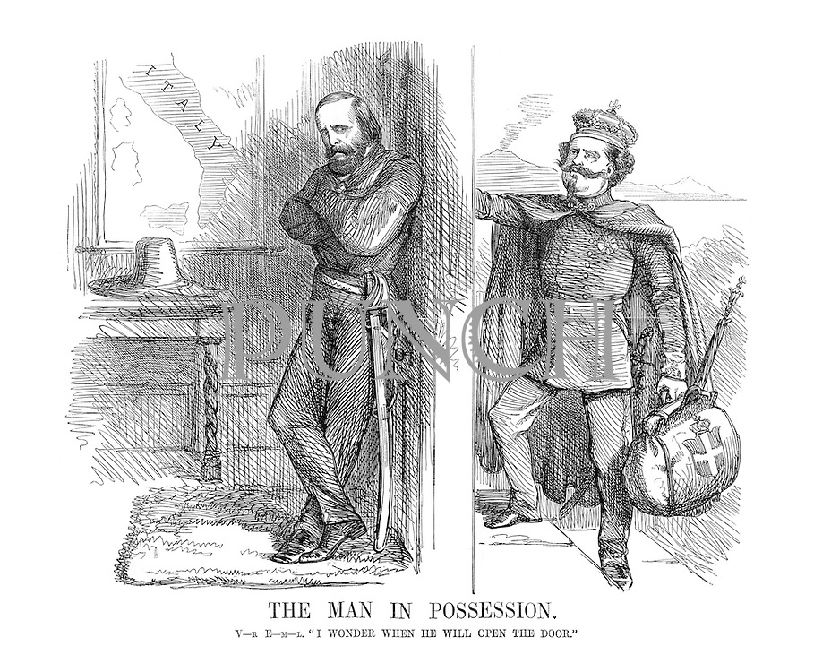 """The Man in Possession. V-R E-M-L. """"I wonder when he will open the door."""""""