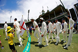 England take the field during day two of the Ashes Test match at Sydney Cricket Ground.