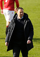 Football - 2020 / 2021 Sky Bet League Two - Morecambe vs. Bolton Wanderers<br /> <br /> Morecambe manager Derek Adams walks away at the final whistle after his side went down to a 0-1 home defeat, at the Mazuma Stadium.<br /> <br /> COLORSPORT/ALAN MARTIN