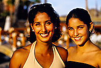 Mexican woman and her 14 year old daughter, Hotel Hacienda del Mar, Los Cabos, Baja California, Mexico