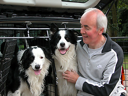 Eddie Sanders with his Dogs Jackson and Inka<br /><br />18 June 2004<br /><br />Copyright Paul David Drabble<br /> [#Beginning of Shooting Data Section]<br />Nikon COOLPIX5700<br /> Focal Length: 18.8mm<br /> White Balance: Auto<br /> Digital Zoom Ratio: 1.00<br /> 2004/06/18 11:18:16<br /> Exposure Mode: Programmed Auto<br /> AF Mode: AF-S<br /> Saturation comp: 0<br /> JPEG (8-bit) Fine<br /> Metering Mode: Multi-Pattern<br /> Tone Comp: Auto<br /> Sharpening: Normal<br /> Image Size:  2560 x 1920<br /> 1/134.6 sec - F/4.7<br /> Flash Sync Mode: Not Attached<br /> Noise Reduction: OFF<br /> Color<br /> Exposure Comp.: 0 EV<br /> ConverterLens: None<br /> Sensitivity: ISO 200<br /> [#End of Shooting Data Section]