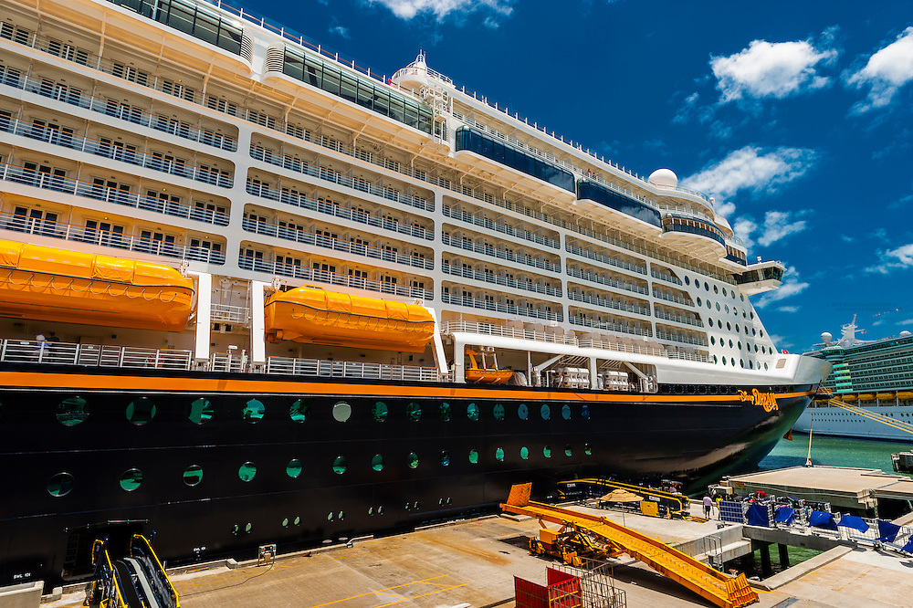 The new Disney Dream cruise ship, Port Canaveral, Florida USA