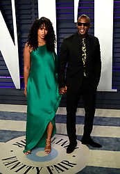 Sabrina Dhowre, Idris Elba attending the Vanity Fair Oscar Party held at the Wallis Annenberg Center for the Performing Arts in Beverly Hills, Los Angeles, California, USA.
