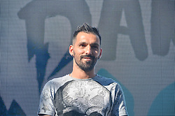 June 15, 2017 - Saint Petersburg, Russia - June 15, 2017. - Russia, Saint Petersburg. - FC Zenit Saint Petersburg captain Miguel Danny said goodbye to the fans at Manege Square. On 5 June 2017, Zenit confirmed that Danny will leave the club as a free agent. In picture: FC Zenit Saint Petersburg captain Miguel Danny. (Credit Image: © Russian Look via ZUMA Wire)