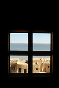 Bedroom view from a hotel at the Siwa Oasis in the Matruh Governorate, Egypt