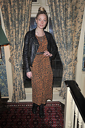 LADY CLARA PAGET at a screening of Charlotte Olympia's new film 'To Die For' held at Mark's Club, Charles Street, London W1 on 22nd February 2011.