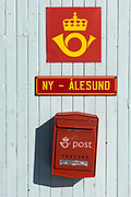 Ny Alesund town<br /> Post Office<br /> Spitsbergen<br /> Svalbard<br /> Norway<br /> Arctic Ocean<br /> Ny-Ålesund is the world's northernmost settlement, situated at 79 degrees north in the north-western region of Spitsbergen
