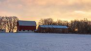 Winter Dairyland Sunrise, Southern Dane County, Sunday, December 20, 2020