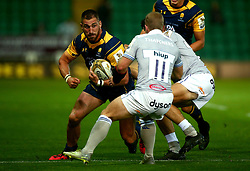 Matt Cox of Worcester Warriors runs into tackles - Mandatory by-line: Robbie Stephenson/JMP - 28/07/2017 - RUGBY - Franklin's Gardens - Northampton, England - Worcester Warriors v Bath Rugby - Singha Premiership Rugby 7s