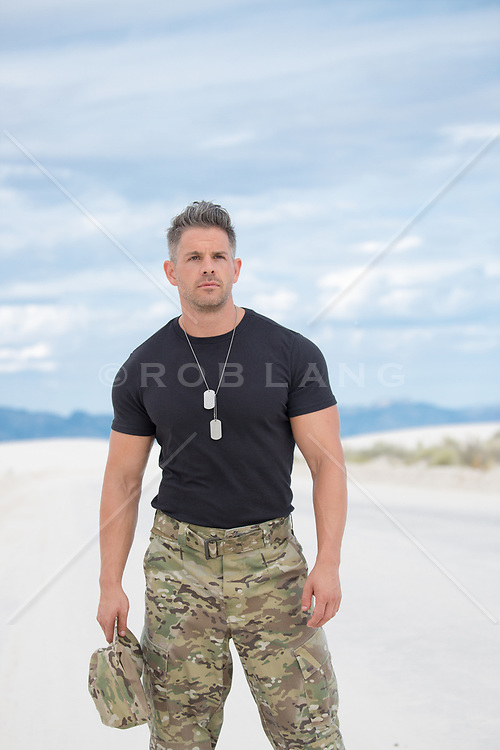 Sexy Solider outdoors