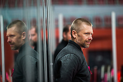 Coach of HDD SIJ Jesenice SIVIC Mitja during Alps Hockey League match between HC Pustertal and HDD SIJ Jesenice, on October 3, 2019 in Ice Arena Podmezakla, Jesenice, Slovenia. Photo by Peter Podobnik / Sportida