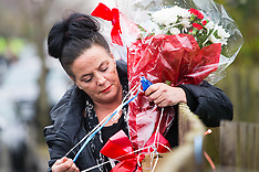 2018-04-10   - SWNS - Travellers replace flowers where Hither Green pensioner killed burglar